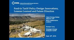Webinar: FERC Ruling and Feed-in Tariffs - Clean Energy States Alliance