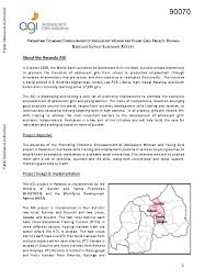Baseline Survey Design Promoting Economic Empowerment Of Adolescent Women And Young