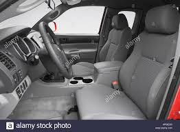 2007 Toyota Tacoma X Runner in Red - Front seats Stock Photo ...