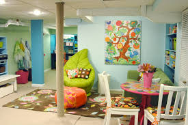 ... Exquisite Arrangement Interior For Cute Playroom Ideas : Fantastic  Playroom Interior Ideas And Green Velvet Bean ...