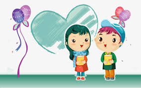 Cute Little Couple Lovely Little Couple Cartoon PNG And PSD File Impressive Little Couple Photo Download