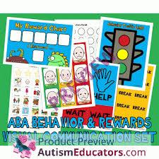 Visual Behavior Reinforcment Token Rewards Set W Pecs Picture Cards Autism