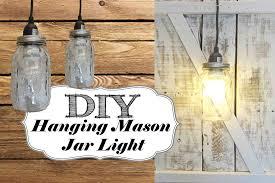diy hanging mason jar light