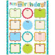 Happy Birthday Dot Chart Printable Stickers Printables