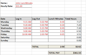 timecard with lunch breaks need a timesheet template to track your hours here are 12
