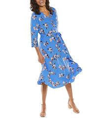 Coolibar Size Chart Coolibar Spring Blue Garden Party Floral Mila Wrap Dress