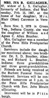 Iva Gallagher obituary - Newspapers.com