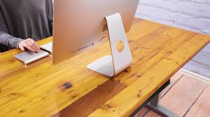 reclaimed douglas fir solid wood desktop from uplift desk