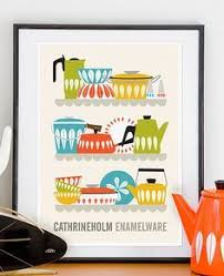 cathrineholm poster kitchen print mid century poster cathrineholm enamelware poster print with the colorful cathrineholm enamelware line