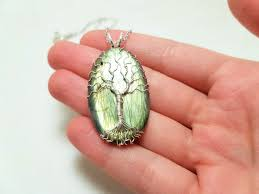 frameless wire wrapped gemstone tree of life pendant tutorial
