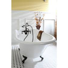 54 inch whirlpool tub. classic roll top petite 54-inch cast iron clawfoot tub with wall drilling - 54 inch whirlpool