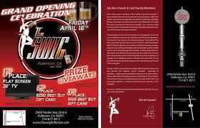 bar grand opening flyer swig bar material