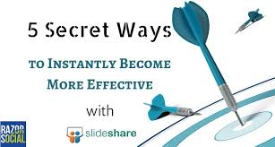 slede share 5 ways to become effective with slideshare presentations