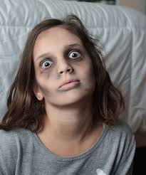 basic tutorial for creating simple zombie makeup keep it not too scary for kids or add as much gore as you want