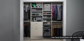 reach in closet organizers do it yourself. Flat Panel Small Closet Arctic Finish 934x464 Reach In Organizers Do It Yourself