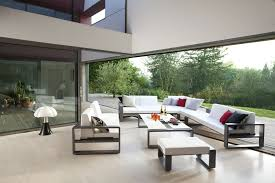 trendy outdoor furniture. a puzzle of contemporary outdoor furniture adorable home modern patio with red cushions set trendy