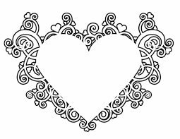 Small Picture Valentines Heart Design Free Printable Coloring Pages Color