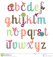 Girly Alphabet Stock Illustrations 305 Girly Alphabet Stock