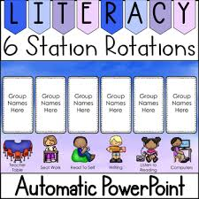 Reading Center Rotation Chart Center Rotation Chart With Timer Worksheets Teaching