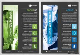 Green Layouts Green And Blue Business Flyer Layouts Buy This Stock