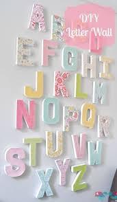 diy letter wall art make a big