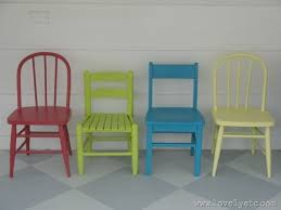 colorful painted child s table and chairs