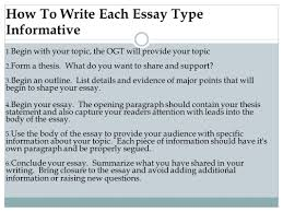 mrs adkins mr lewis prep for the writing ogt how to write each essay type informative 1