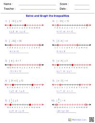 absolute value inequalities worksheets