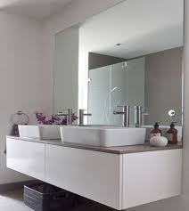 large frameless mirror. Bathrooms Mirror On The Wall Capital Lifestyle Intended For Large Frameless Bathroom Idea 14