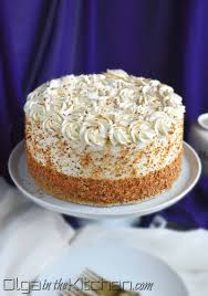 Honey Cake With Sour Cream Frosting Olga In The Kitchen