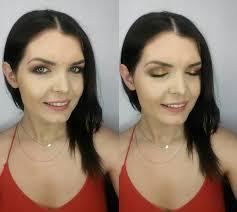 evening makeup with red dress