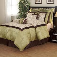 savanna green brown 8 piece comforter set