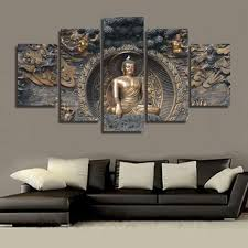 hd printed buddha statue painting wall art decor print poster picture canvas on wall art decor images with hd printed buddha statue painting wall art decor print poster