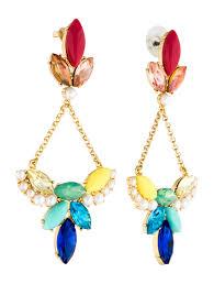 multicolor crystal chandelier earrings