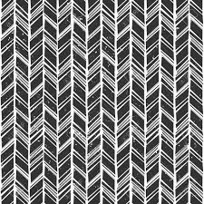 Cheveron Pattern Custom Seamless Hand Drawn Style Chevron Pattern In Black And White
