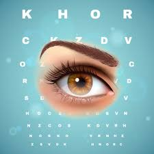 Eye Chart Poster Free Ophthalmic Optometric Visual Control Chart Poster Vector