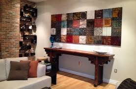antique tin panel display on vintage tin tiles wall art with repurposed tin panels turn any wall into a work of art olde good