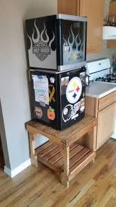Mini Fridge Stand Out Of A Skid Diy Mini Cabinet30