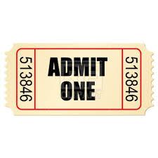 Movie Ticket Stub Vector Illustration Of Signs Symbols Maps