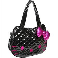 loungefly - Black Hello Kitty Quilted Purse from adicted2retail's ... & Black Hello Kitty Quilted Purse Adamdwight.com