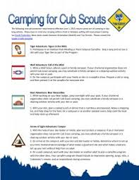 Camping in the Cub Scout Adventure Program | Camping, Boys and Cub ...
