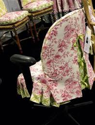 office chair slipcovers created for jackie von tobel using fabric from jackie s designer fabrics made