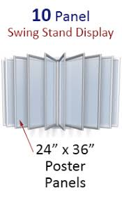 Multiple Poster Display Stands 100 x 100 MultiPanel Sign Holder Wall Mounted Design for 100 x 100 20