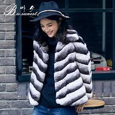 get ations 2016 winter new european and american fur rex mao haining fur coat short paragraph blue imitation