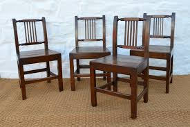 set of 18thc welsh oak farmhouse dining chairs