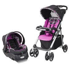 car seat stroller combo infant girl baby travel system set pink newborn