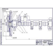 Чертёж ГРМ двигателей СМД cdw dwg ГРМ двигателя СМД 60 62 64