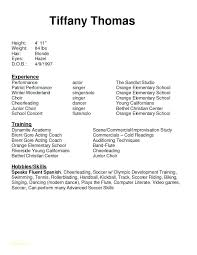 Free Acting Resume Builder Best of Performing Arts Resume Template Free Acting Resume Template Or Fair
