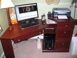 small cherry computer desk corner designs bedroom ideas and inspirations wood desks narrow