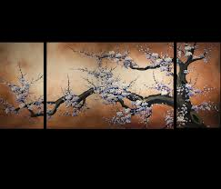 art prints on canvas modern art cherry blossom painting